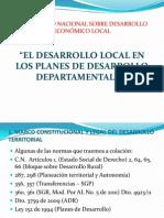 Intercambio de Secretarias Departamentales - El desarrollo local en los Planes de Desarrollo Departamentales