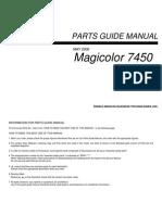 Konica Minolta Magicolor 7450 Parts Manual