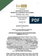 Plenaria Senado - Orden del día - 23 de mayo de 2012