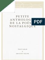 Petite anthologie de la poésie nostalgique