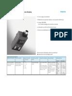 Festo Sensor de Presion Ficha Tecnica 380848