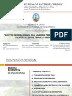 """FAUA UPAO Expo Tesis """"Centro Rcreacional con Vivienda Temporal para el Golf y Country Club de Trujillo en Poroto"""""""