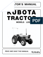 kubota L2900, L3300, L3600, L4200 owners manual pdf