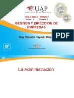 Ayuda 1.1 - Definición de Administración