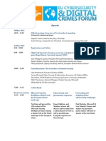 Microsoft EU Cybersecurity and Digital Crimes Forum Agenda