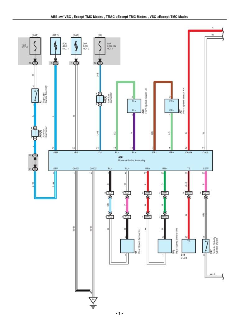 2009-2010 Toyota Corolla Electrical Wiring Diagrams | Anti Lock Braking  System | Mechanical Engineering | 2014 Toyota Corolla Wiring Diagram |  | Scribd