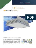 Ember Led - Eshine Solar Led Canopy Light - Recessed