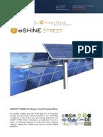 Ember Led - Eshine Solar Led Street Light 65 Degree