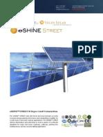 Ember Led - Eshine Solar Led Street Light 85 Degree Wide