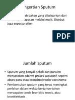 Pengertian Sputum