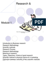 Module 1 Business Research