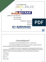 Marketing Research (Big Bazar)