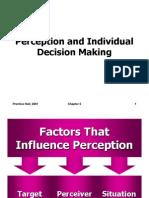 OB Ch-5 (Perception & Individual Decision Making)