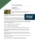 Antibiotics in Food Animals - Webmd