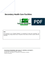 Draft Pakistan Standard on Secondary Healthcare Facilities