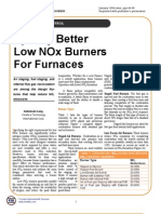 Specify Better Low NOx Burners for Furnaces