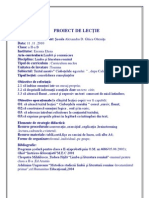 4 Proiect de Lectie Clasa a II-A B