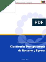 Clasificador Prep Rec y Egr 2012