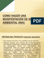 COMO HACER UNA MANIFESTACIóN DE IMPACTO AMBIENTAL (