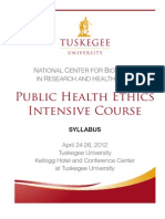 Public Health Ethics Intensive Syllabus