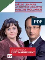 Affiche François Hollande avec Gaëlle Lenfant