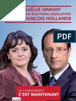 Tract François Hollande avec Gaëlle Lenfant