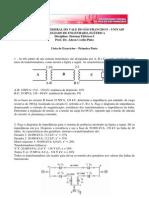 Lista de Exercicios de Sistemas Eletricos I - Primeira Parte