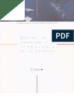 Gestión de la Innovación y la Tecnología en la Empresa (2001)