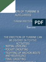 Erection of Turbine @Auxiliaries