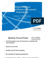 ML12139A046 - Station Blackout Advance Notice of Proposed Rule Making