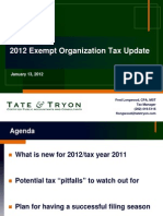 2012 Exempt Organizations Tax Update