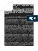 Lancement d'Une Application Zurich Sur i Phone