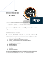 Manual de Procedimioento Del Centro de Produccion