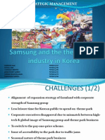 SM_SecC_Group10_Samsung and the Theme Park Industry in Korea