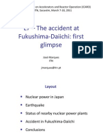 L7 – The accident atFukushima‐Daiichi firstglimpse