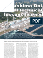 Fukushima Dai-Ichi Initial Technical Lessons Learned