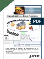 Empleados y monotributistas DDJ Bienes Personales
