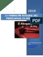Ensayo La Formacion Integral Del Profesional en Derecho