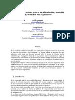 Paper - Utilización de un sistema experto para la selección y evolución del personal en una organización