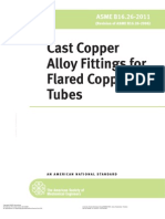Cast Copper Alloy Fittings for Flared Copper Tubes