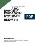 DVW A500 Manual