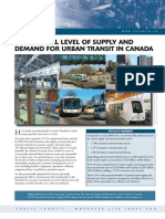 The Optimal Level of Supply and Demand for Urban Transit in Canada