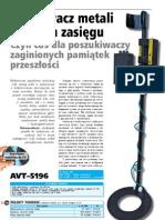 detector de metais pi polonês avt5196