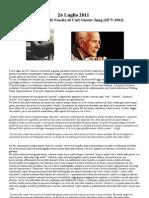 C.G.Jung - Vita e Reincarnazione (di Emanuele Casale) - Articolo di Commemorazione per l'Anniversario Di Nascita