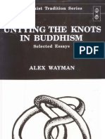 Alex Wayman Untying the Knots in Buddhism