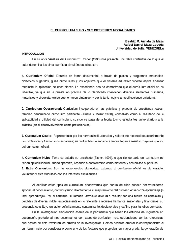 Meza - Currículum Nulo