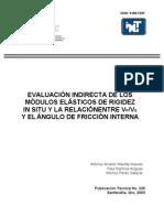EVALUACION INDIRECTA DE LOS MODULOS ELASTICOS DE RIGIDEZ IN SITU Y LA RELACIÓNENTRE VP VS Y EL ANGULO DE FRICCION INTERNA