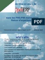 retour d'expérince de 5 ans de mise en place de openerp ds les PME /PMI marocaines
