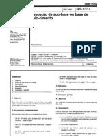 NBR 12254 - 1990 - Execu+º+úo de Sub Base ou Base de Solo Cimento