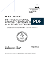 DOE Standard - Instrumentation and Control Functional Area Qualifications